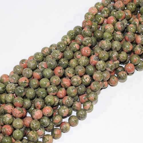 Unakite 10mm Rounds | $4.95 Wholesale