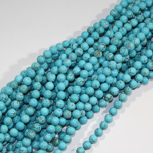 Turquoise Magnesite (Dyed) | 8mm