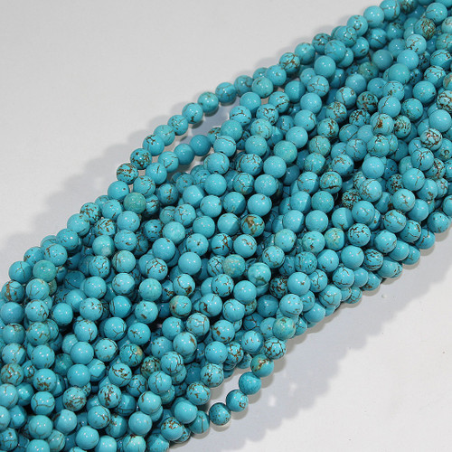 Turquoise Magnesite (Dyed) | 6mm