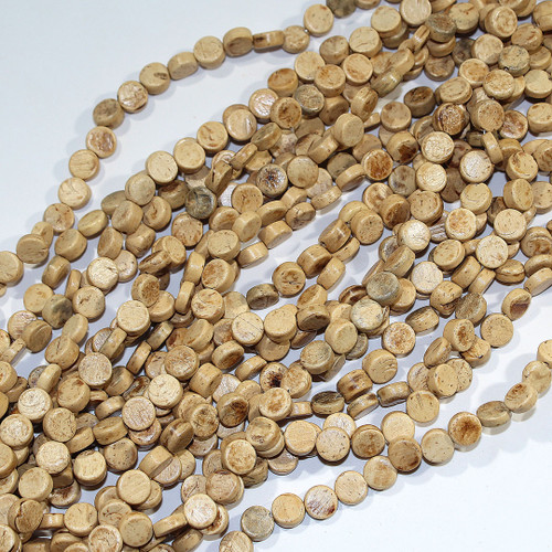 Young Coconut Coin Beads 8mm | $2.00 Wholesale
