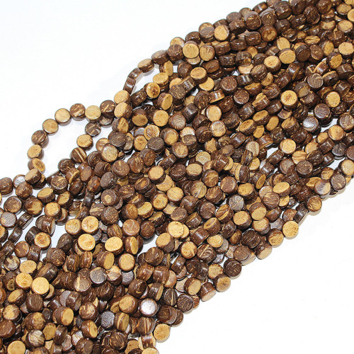Coconut Coin Beads 8mm | $1.75 Wholesale