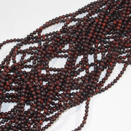 Poppy Jasper Round Beads | 4mm | $2.55 Wholesale