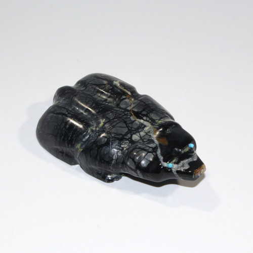 Badger Fetish by Mike Tucson | Picasso Marble