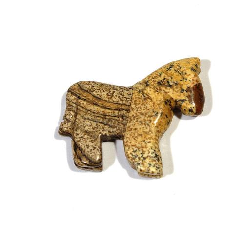 Picture Jasper Horse Pendant