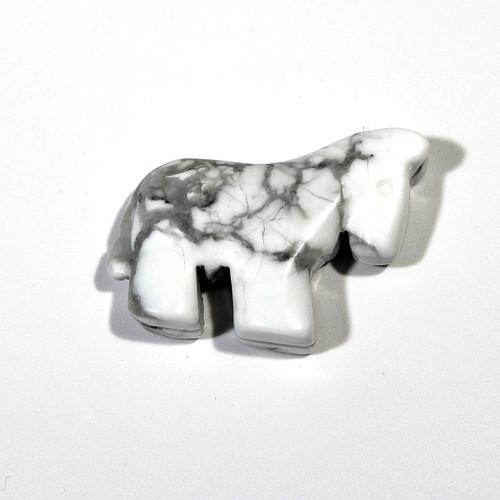 Howlite Horse Fetish Pendant