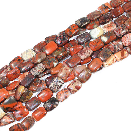 Brecciated Jasper | Puff Rectangle 13x18mm | $6.00 Wholesale