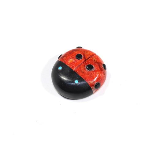 Ladybug Fetish by Georgette Lunasee | Coral & Black Marble