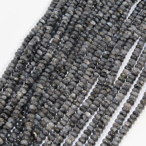 Black Labradorite | 6mm Rondelle
