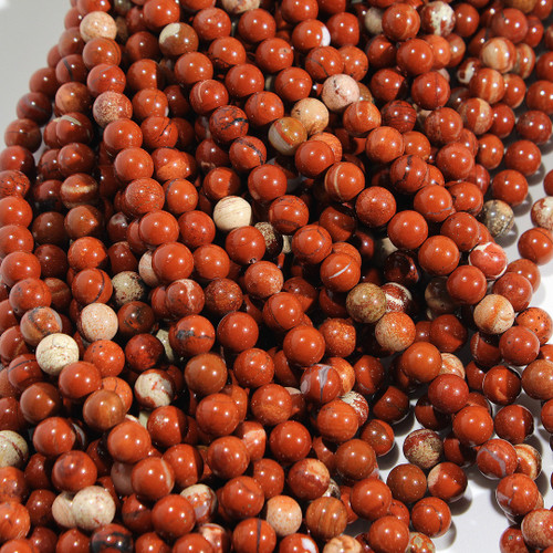 Red Jasper Rounds | 8 mm