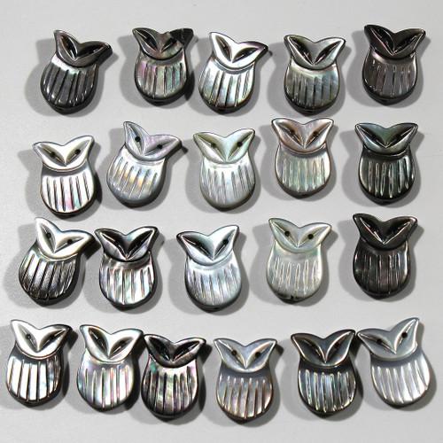 Abalone Owl Beads | $1.80 Wholesale
