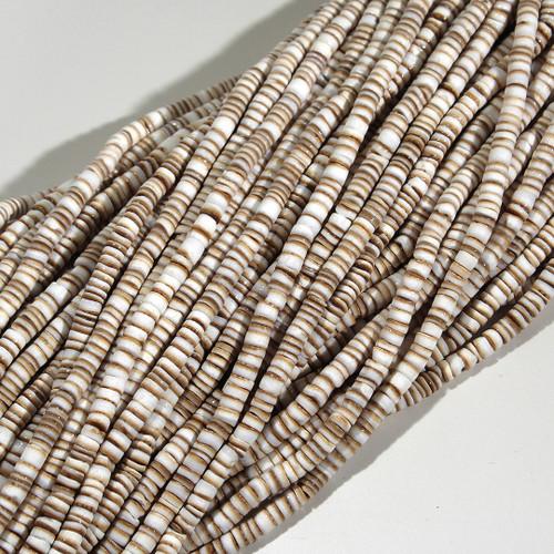 Chocolate Conus Shell Heishi 4-5mm | $7.55 wholesale