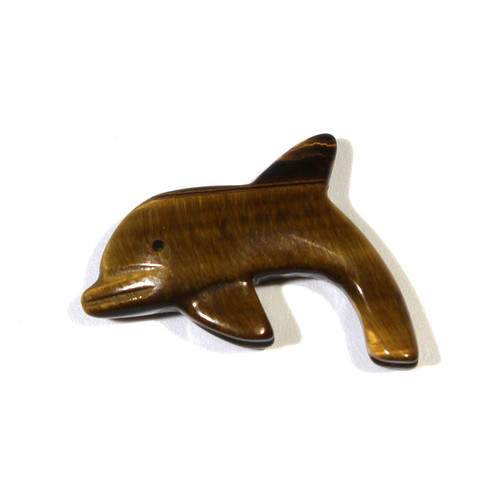 Tiger Eye Dolphin Fetish Pendant