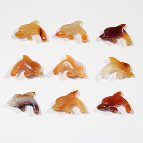 Carnelian Dolphin Fetish Pendant | $1.75 Wholesale