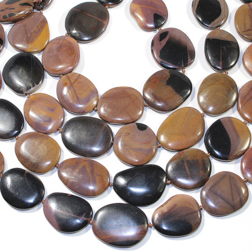 Mexican Picture Jasper Flat Free forms 24-36 mm