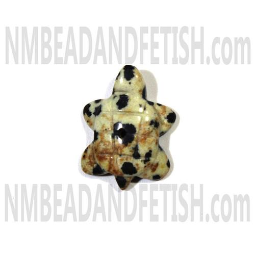 Dalmatine Jasper Turtle Fetish Bead
