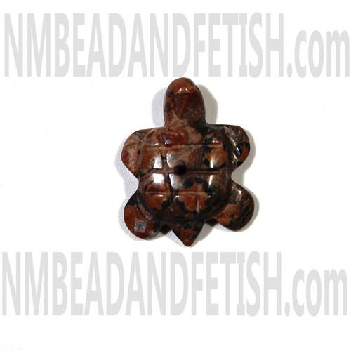 Leopard Skin Jasper Turtle Fetish Bead
