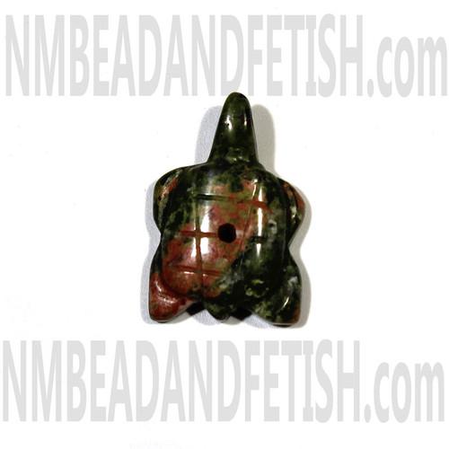 Unakite Turtle Fetish Bead
