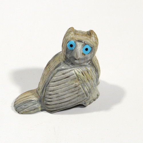 Owl Fetish Carved by Ben Bacy | Picasso Marble