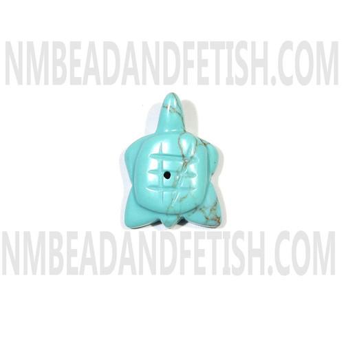 Block Kingman Turquoise Turtle Fetish Bead