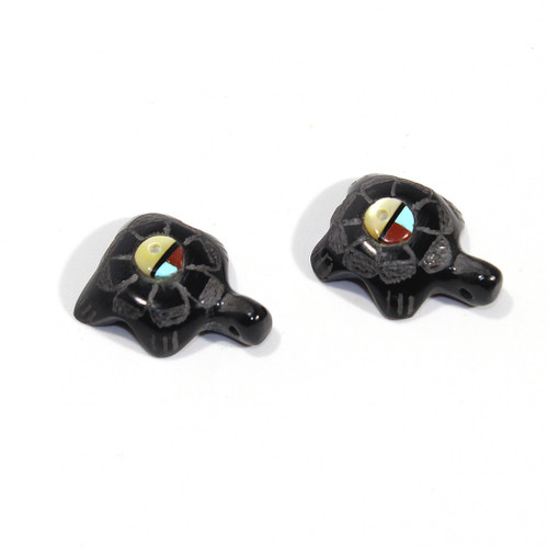 Turtle Earring Pair by Roselle Gonzalez | Black Marble