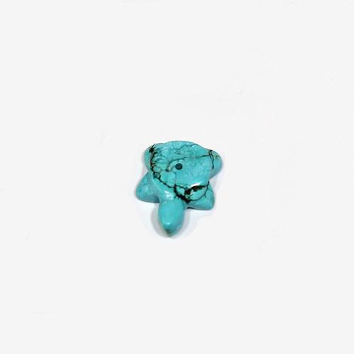 Dyed Magnesite Turtle Fetish Bead