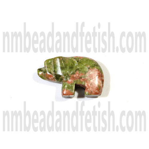 Unakite Bear Fetish Bead