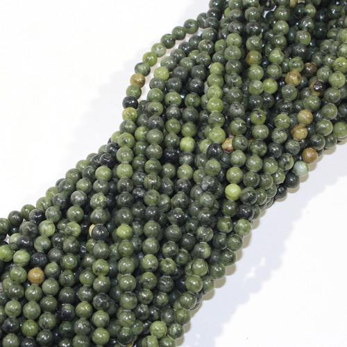 6mm Nephrite Jade Rounds