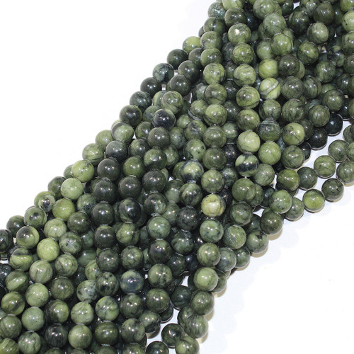 8mm Nephrite Jade Rounds