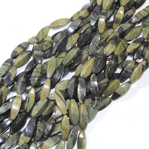 Mexican Green Jasper | 4 Sided Rice