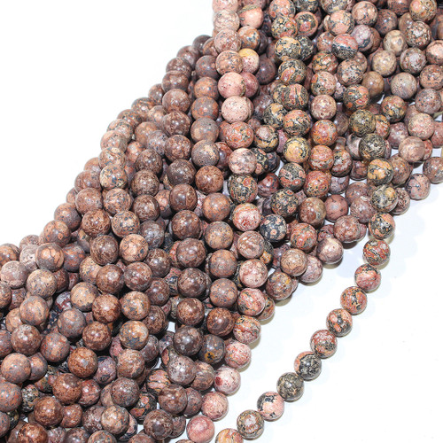 10mm Leopard Skin Jasper Rounds | $4.95 Wholesale