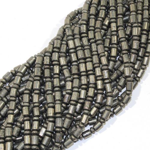 Pyrite Barrel Rondelles | $5.50 Wholesale