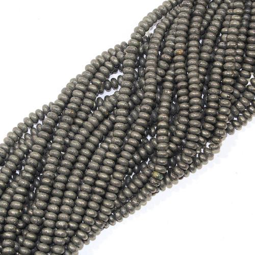 Pyrite 6mm Rondelle | $4.40 Wholesale