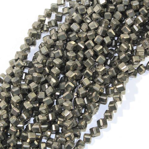 Pyrite Diagonal drill cubes | 6mm