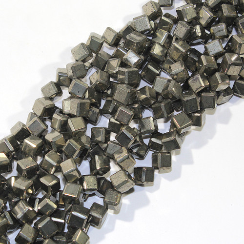 Pyrite Diagonal drill cubes | 8mm