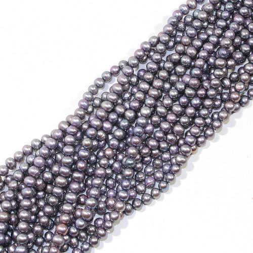 5mm Metallic Peacock Grey Freshwater Pearls | $5 Wholesale