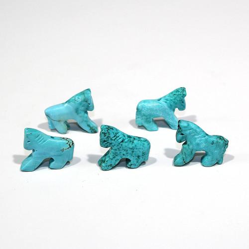 Turquoise Magnesite Horse Fetish Bead