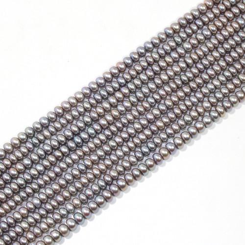 4mm Gunmetal Rondelle Freshwater Pearls | $15 Wholesale