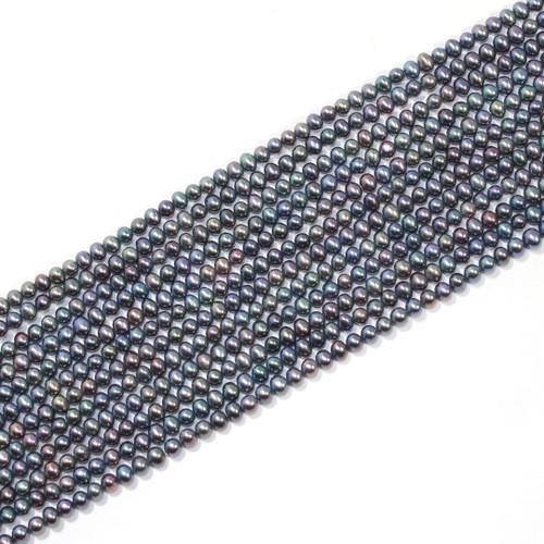 3.5-4mm Metallic Green Peacock Freshwater Pearls | $12 Wholesale