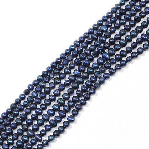 5mm Metallic Royal Blue Freshwater Pearls | $8 Wholesale