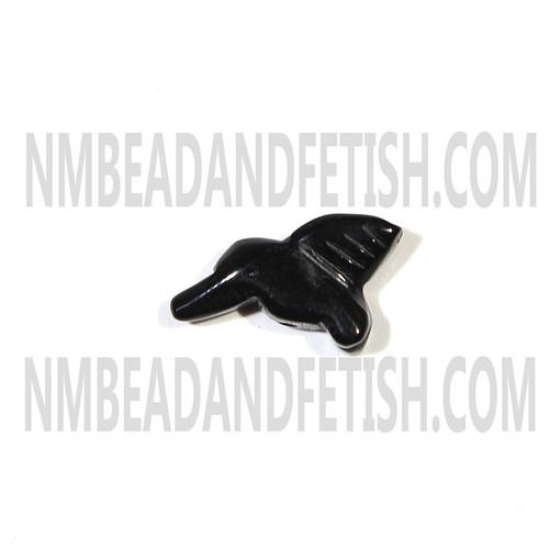 Black Stone Hummingbird Fetish Bead