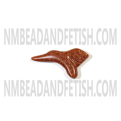 Goldstone Hummingbird Fetish Bead