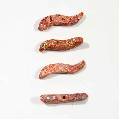 Snake Fetish Bead by Roselle Shack Gonzalez | Sponge Coral