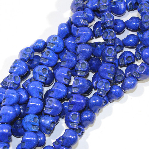 Royal Dyed Magnesite Skull Beads
