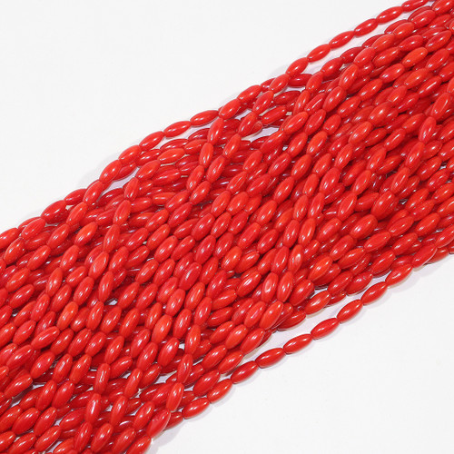 Dyed Branch Coral Rice Beads 8x3mm | $6 Wholesale