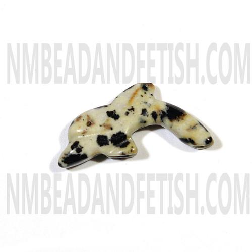 Dalmatine Jasper Dolphin Fetish Bead