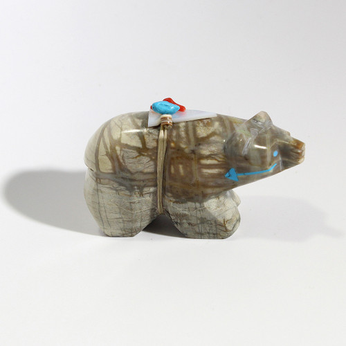 Stewart Alonzo Bear Fetish | Picasso Marble #3