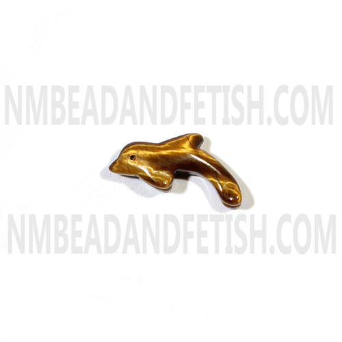 Tiger Eye Dolphin Fetish Bead