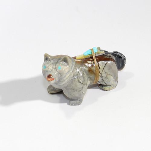 Freddie Leekya Wolf Fetish   Picasso Marble