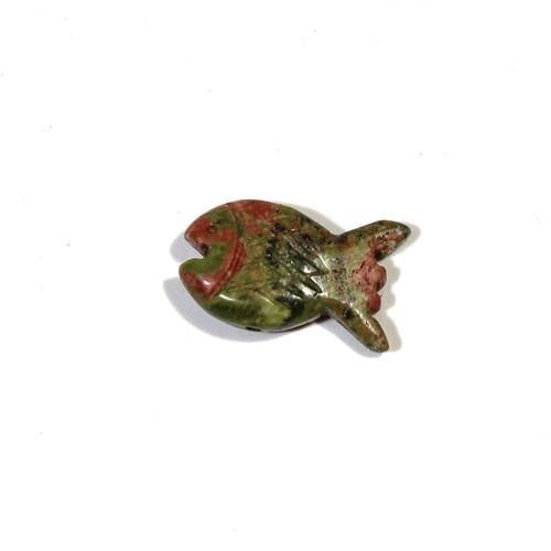 Unakite Fish Fetish Bead