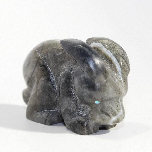 Brian Yatsattie Rabbit Fetish | Picasso Marble
